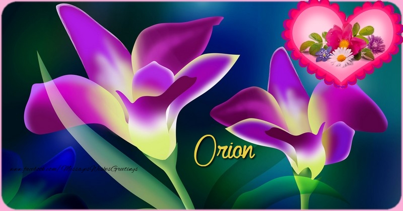 Greetings Cards for Birthday - Happy Birthday Orion