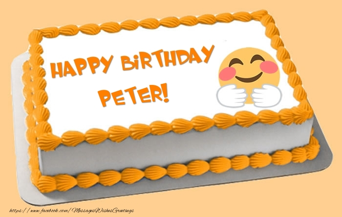Happy Birthday Peter Cake Greetings Cards For Birthday For