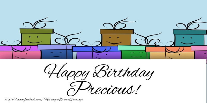 Greetings Cards for Birthday - Happy Birthday Precious!