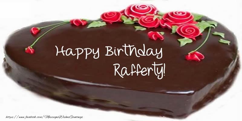 Greetings Cards for Birthday - Cake Happy Birthday Rafferty!