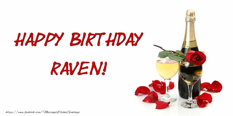 Greetings Cards for Birthday - Happy Birthday Raven