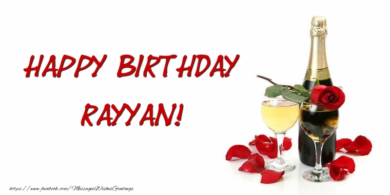Greetings Cards for Birthday - Happy Birthday Rayyan