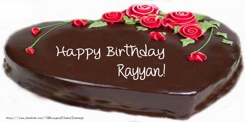 Greetings Cards for Birthday - Cake Happy Birthday Rayyan!