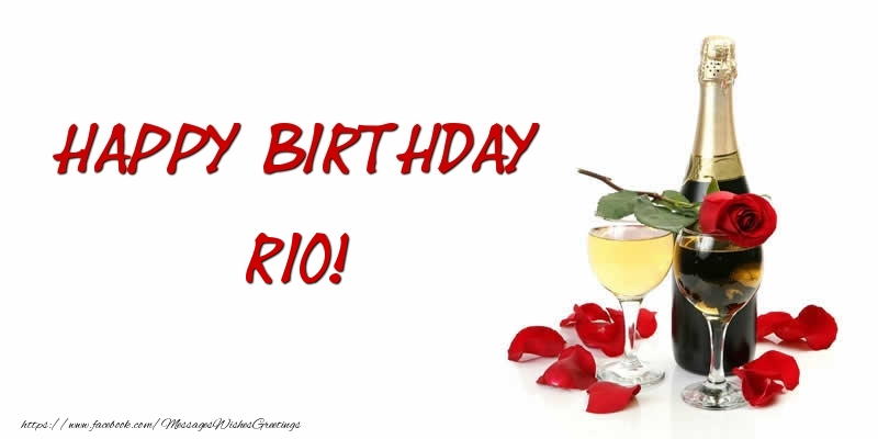 Greetings Cards for Birthday - Happy Birthday Rio