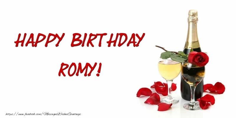 Greetings Cards for Birthday - Happy Birthday Romy