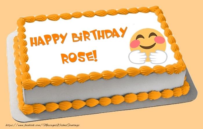 Astonishing Happy Birthday Rose Cake Greetings Cards For Birthday For Rose Birthday Cards Printable Nowaargucafe Filternl