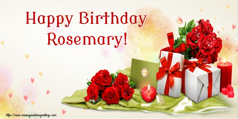 Greetings Cards for Birthday - Happy Birthday Rosemary!