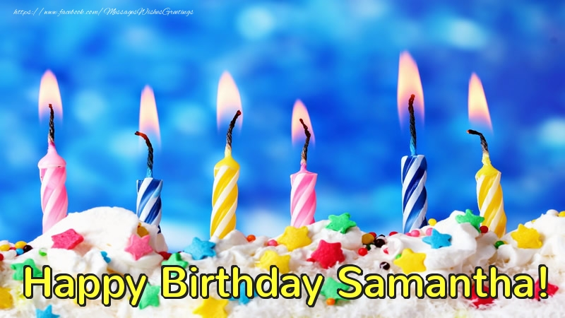 Happy Birthday Samantha Greetings Cards For Birthday For