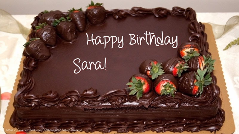 Greetings Cards For Birthday Happy Sara Cake