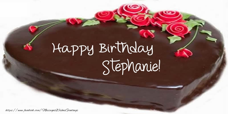 Happy Birthday Stephanie Cake Greetings Cards For Birthday For