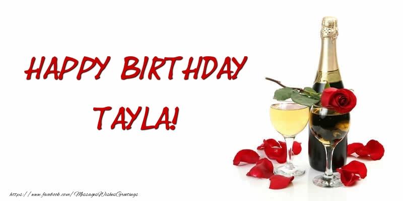 Greetings Cards for Birthday - Happy Birthday Tayla