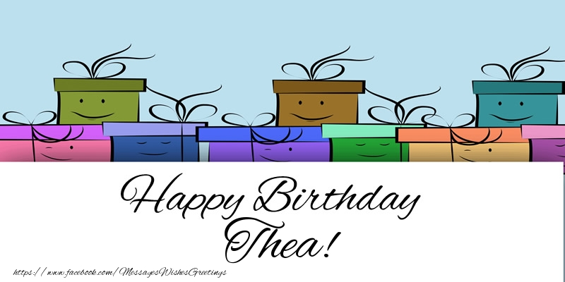 Greetings Cards for Birthday - Happy Birthday Thea!