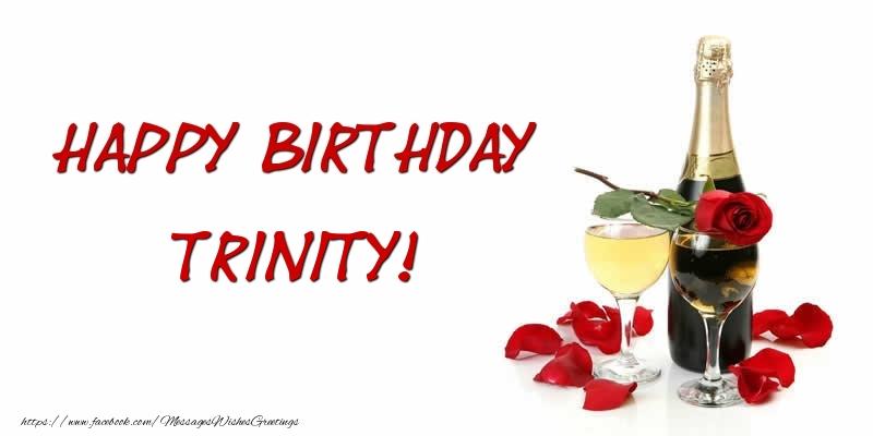 Greetings Cards for Birthday - Happy Birthday Trinity