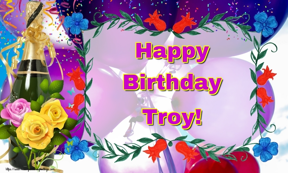 Greetings Cards for Birthday - Happy Birthday Troy!