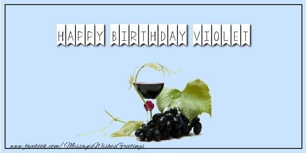 Greetings Cards for Birthday - Happy Birthday Violet