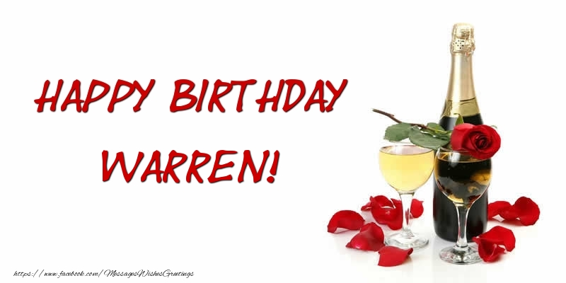 Greetings Cards for Birthday - Happy Birthday Warren