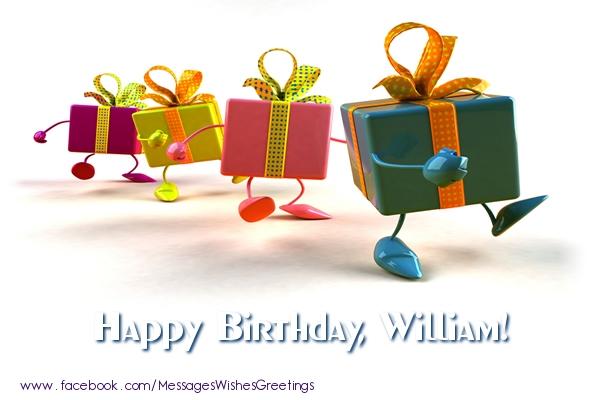 Greetings Cards for Birthday - La multi ani William!
