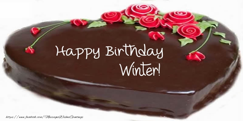 Greetings Cards for Birthday - Cake Happy Birthday Winter!
