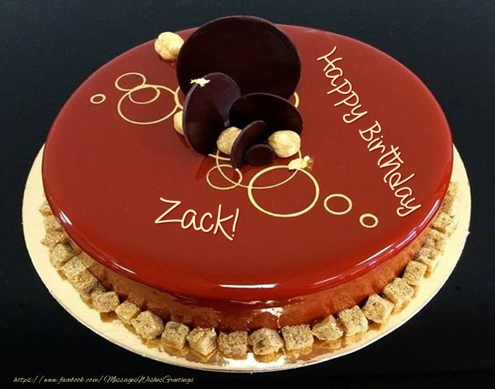 Greetings Cards for Birthday - Cake: Happy Birthday Zack!