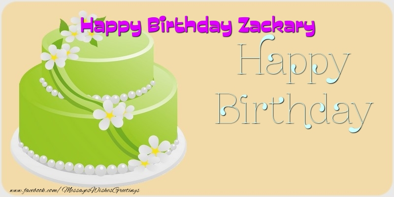 Greetings Cards for Birthday - Happy Birthday Zackary