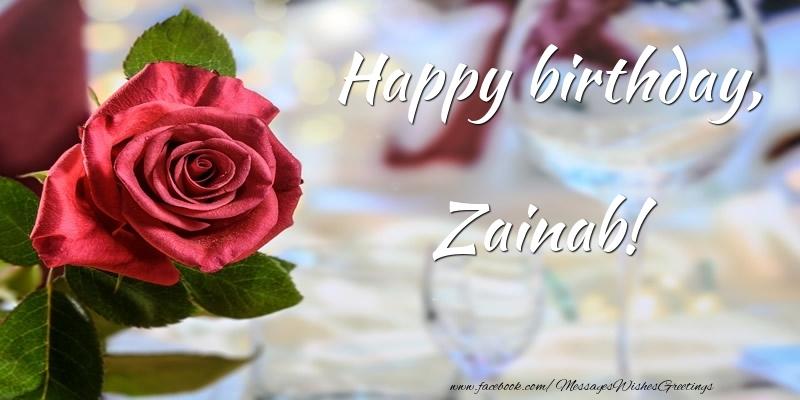 Happy Birthday Zainab Greetings Cards For Birthday For Zainab