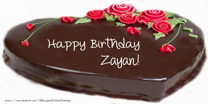 Greetings Cards for Birthday - Cake Happy Birthday Zayan!