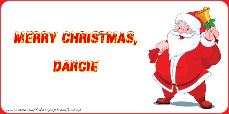 Greetings Cards for Christmas - Merry Christmas, Darcie