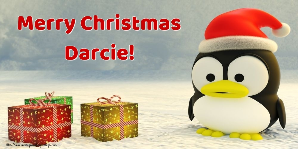 Greetings Cards for Christmas - Merry Christmas Darcie!
