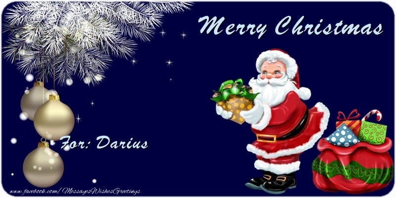 Greetings Cards for Christmas - Merry Christmas Darius