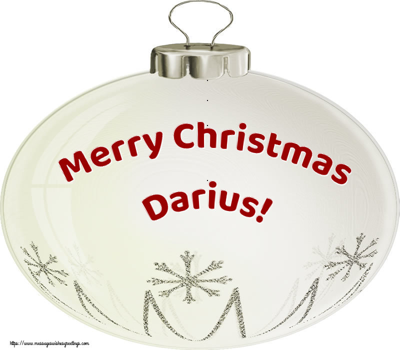 Greetings Cards for Christmas - Merry Christmas Darius!