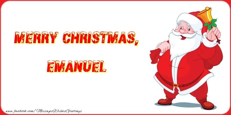 Greetings Cards for Christmas - Merry Christmas, Emanuel