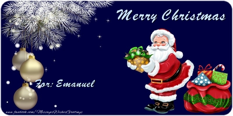 Greetings Cards for Christmas - Merry Christmas Emanuel