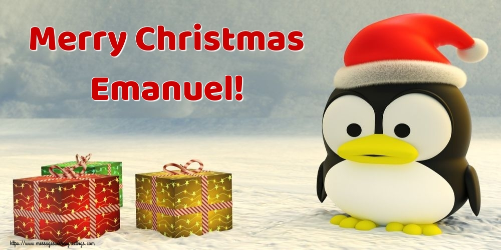 Greetings Cards for Christmas - Merry Christmas Emanuel!