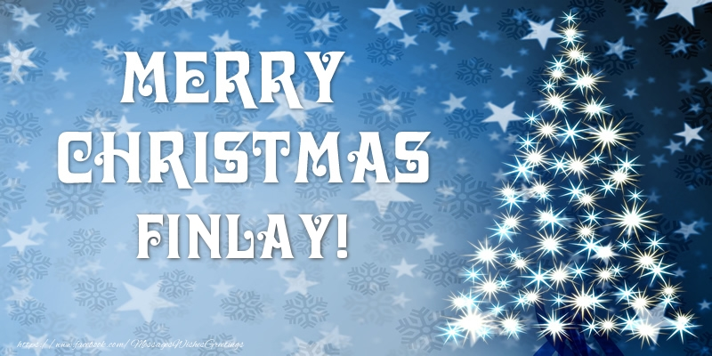 Greetings Cards for Christmas - Merry Christmas Finlay!