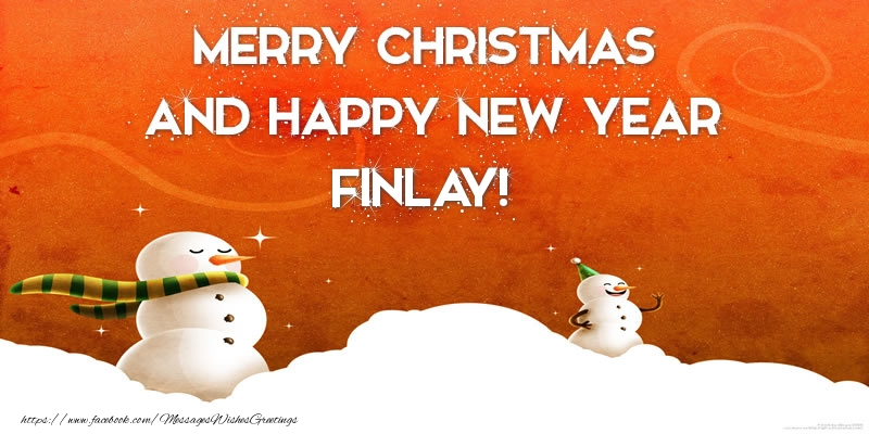 Greetings Cards for Christmas - Merry christmas and happy new year Finlay!