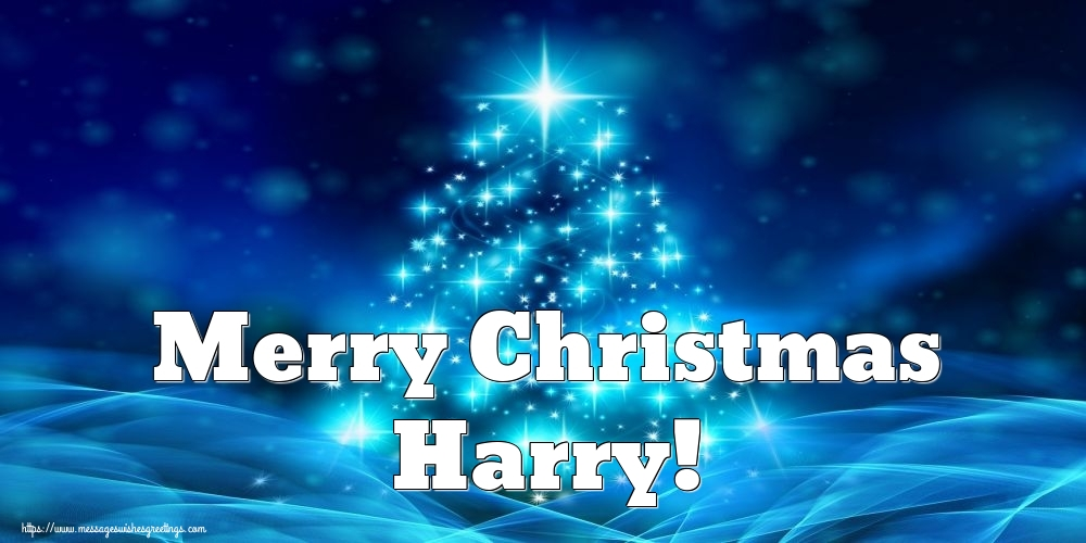 Greetings Cards for Christmas - Merry Christmas Harry!