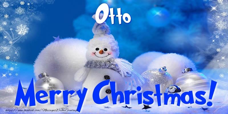Greetings Cards for Christmas - Otto Merry Christmas!