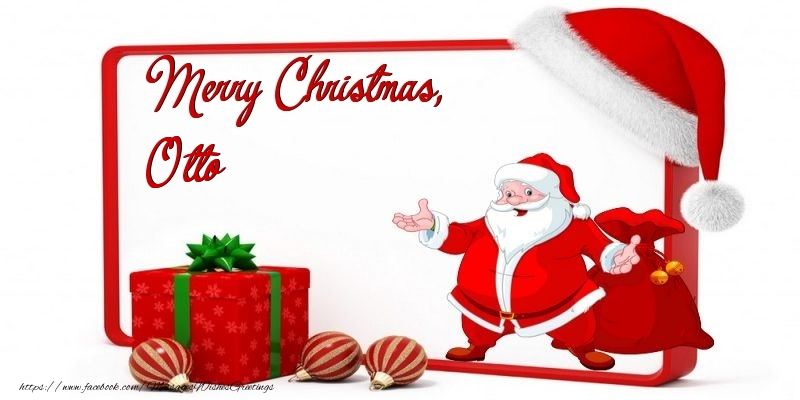 Greetings Cards for Christmas - Merry Christmas, Otto