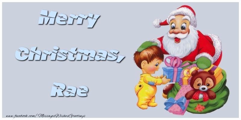 Greetings Cards for Christmas - Merry Christmas, Rae