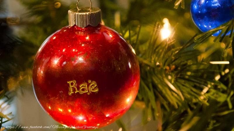 Greetings Cards for Christmas - Your name on christmass globe Rae