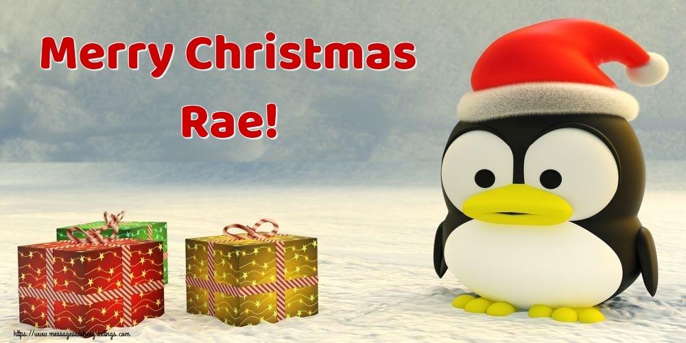 Greetings Cards for Christmas - Merry Christmas Rae!