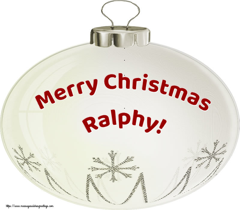 Greetings Cards for Christmas - Merry Christmas Ralphy!
