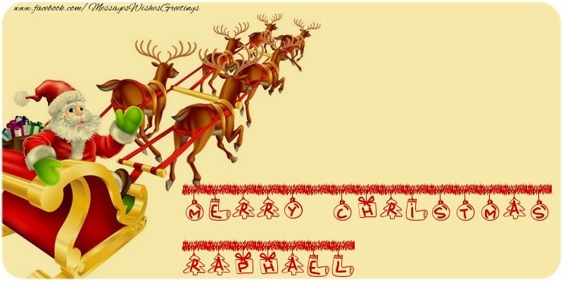 Greetings Cards for Christmas - MERRY CHRISTMAS Raphael