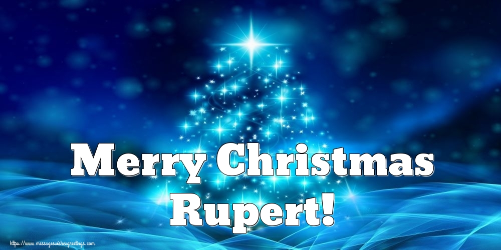 Greetings Cards for Christmas - Merry Christmas Rupert!