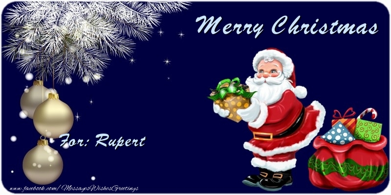 Greetings Cards for Christmas - Merry Christmas Rupert