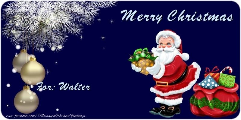 Greetings Cards for Christmas - Merry Christmas Walter