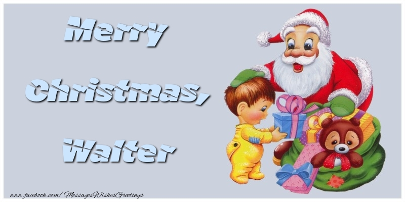 Greetings Cards for Christmas - Merry Christmas, Walter