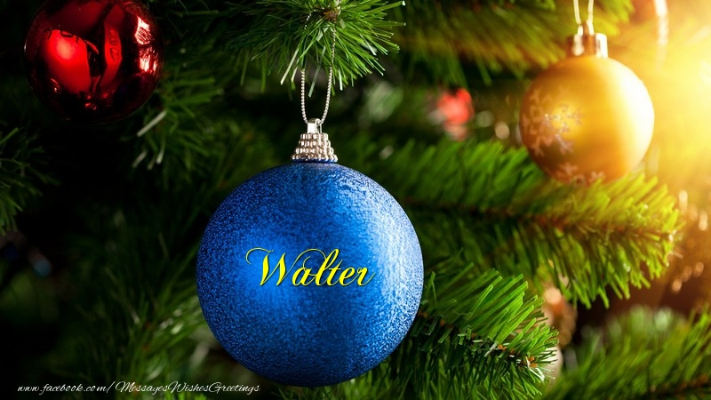 Greetings Cards for Christmas - Walter
