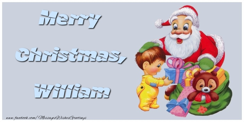 Greetings Cards for Christmas - Merry Christmas, William