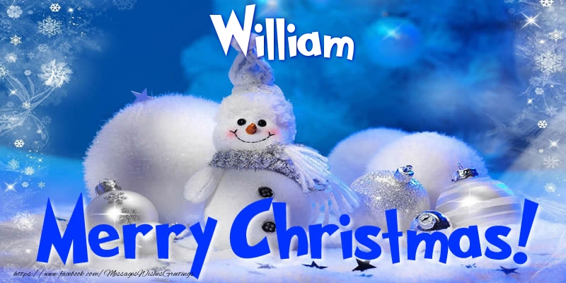 Greetings Cards for Christmas - William Merry Christmas!